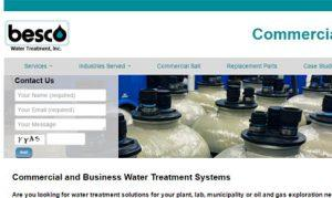 Website for a commercial water treatment company
